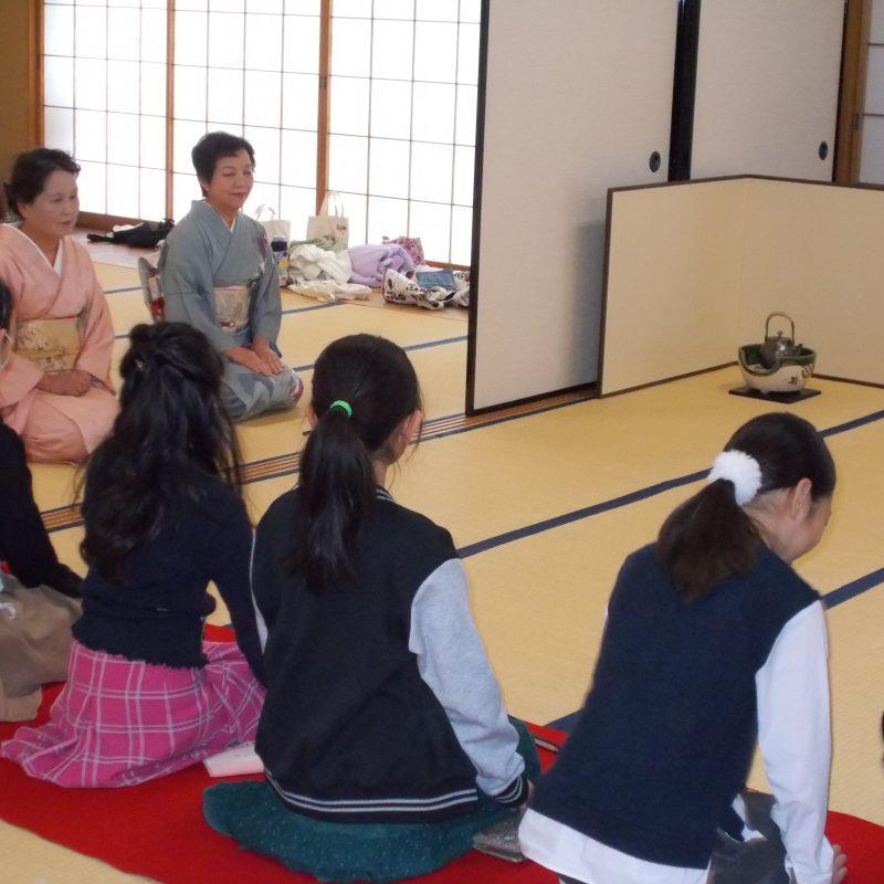 大井児童センター茶道クラブの初釜