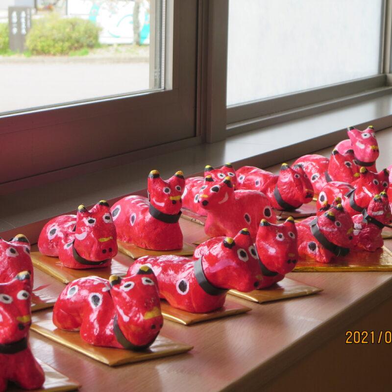 岩村いきいき教室で赤べこをつくりました